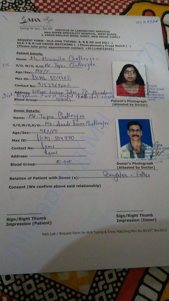 She is admitted to Max Hospital ,Delhi for liver transplantation
