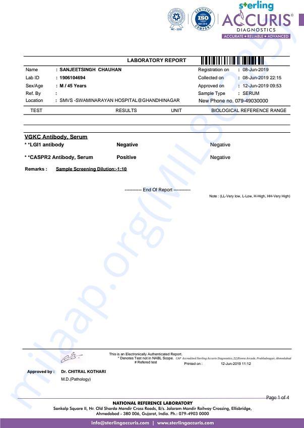 Report , Illness Diagnosis