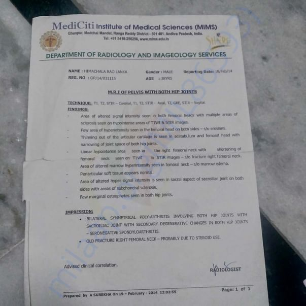 Document from Hospital