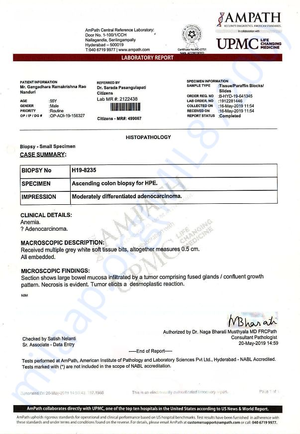 Biopsy Report and Dr prescription file