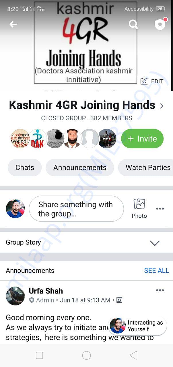 Kashmir 4GR Joining Hands facebook group