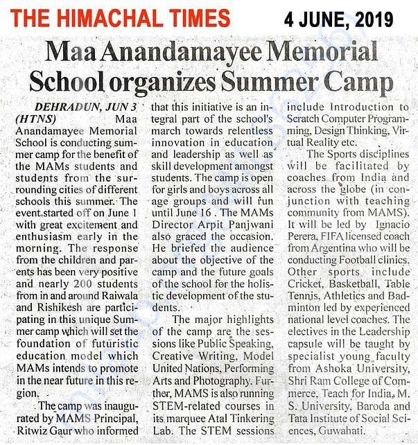 STEAM@MAMS news paper report