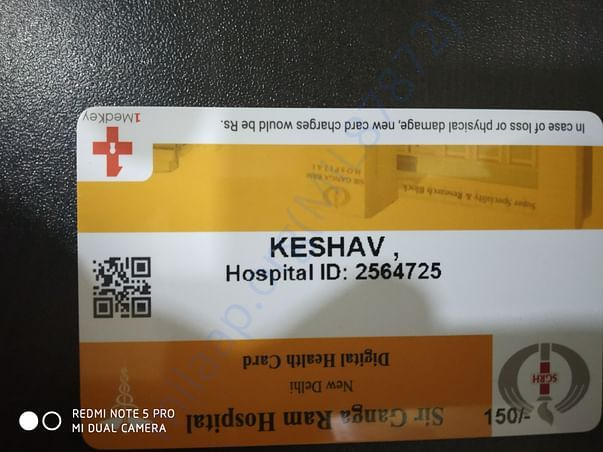 Shri ganga ram hospital patients card