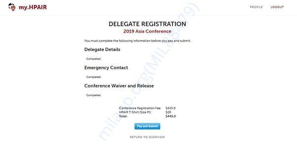 The Registration fee