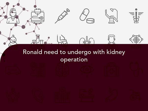 Ronald need to undergo with kidney operation