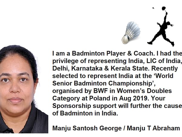 My endeavor to win Medal for India at BWF Badminton, Poland, Aug 2019.