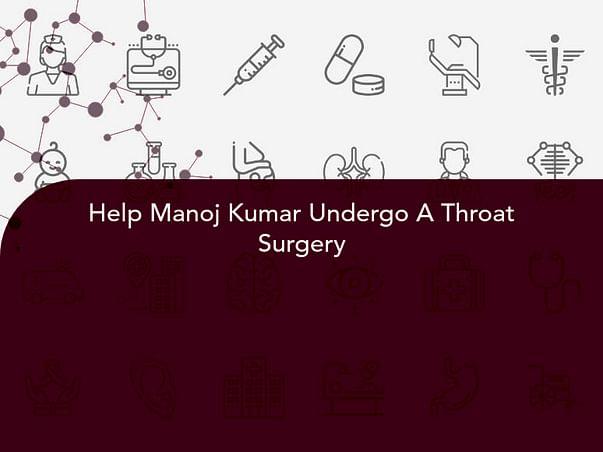 Help Manoj Kumar Undergo A Throat Surgery