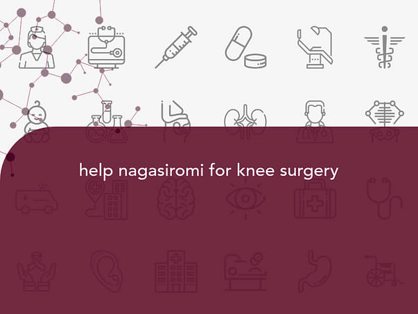 help nagasiromi for knee surgery