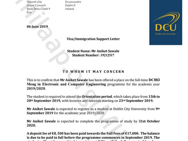 Help Aniket pursue his education in Dublin City University