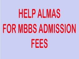Help Almas for Pursuing MBBS!