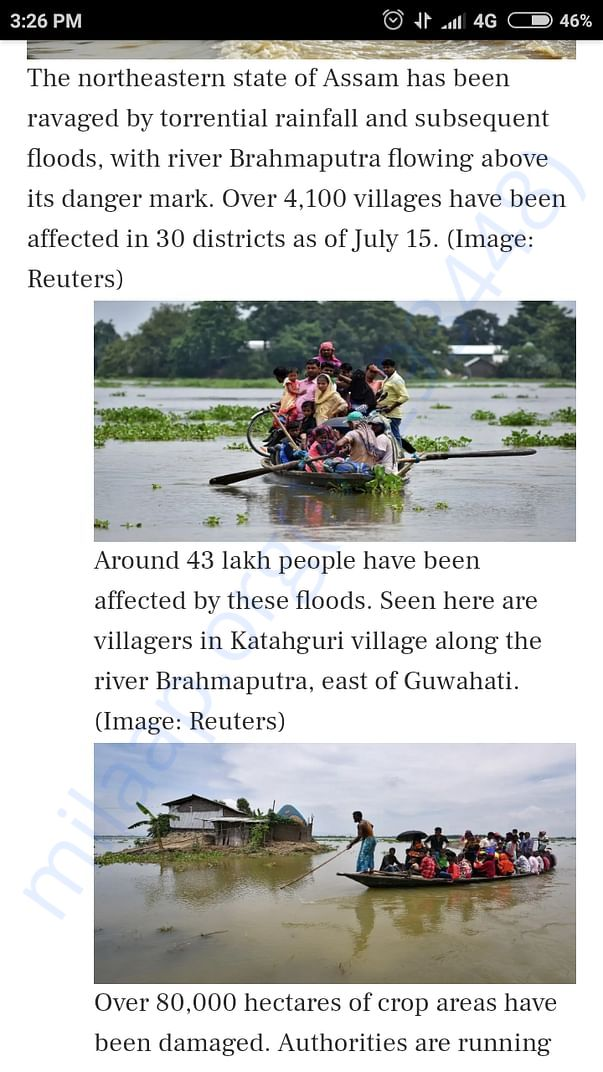 The situation of Assam is all over the news but no help is provided