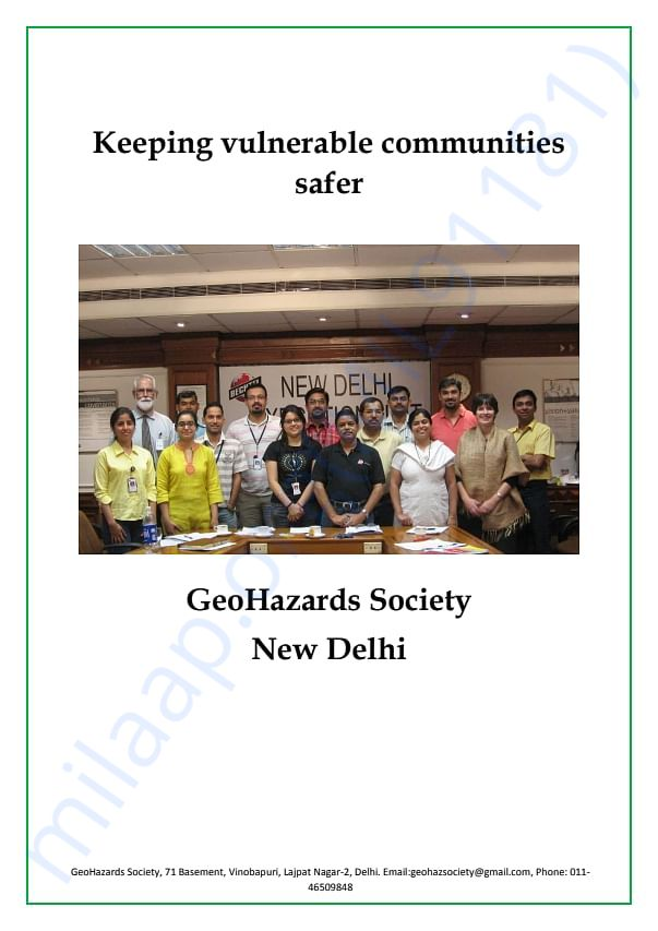 A list of all the work GeoHazards Society has done till date.