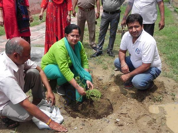 Tree plantation at Rohini Sector 16 Prison Complex