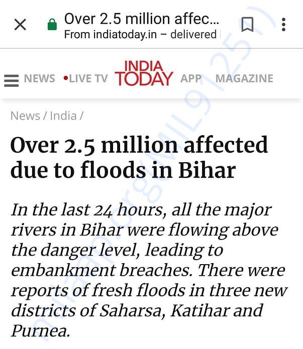 2.5 million people affected in Bihar FLOOD