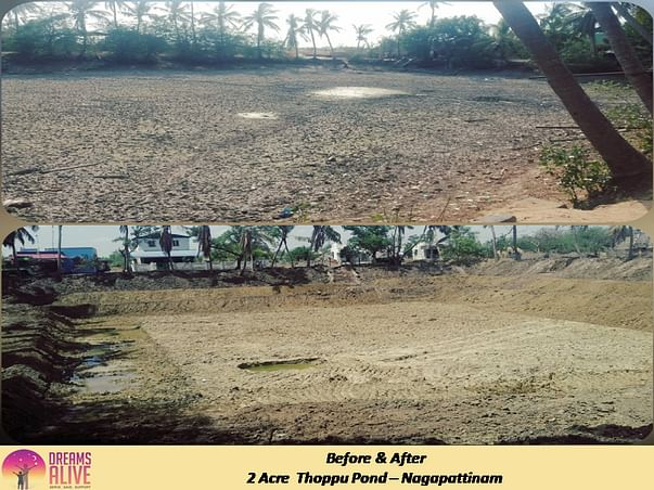 Pond Restoration in Nagapattinam ~ HelpInFarmersInterest #Hifi