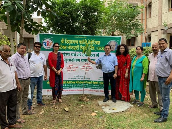 Tree Plantation Drive in Delhi, Faridabad and Almora in July-August