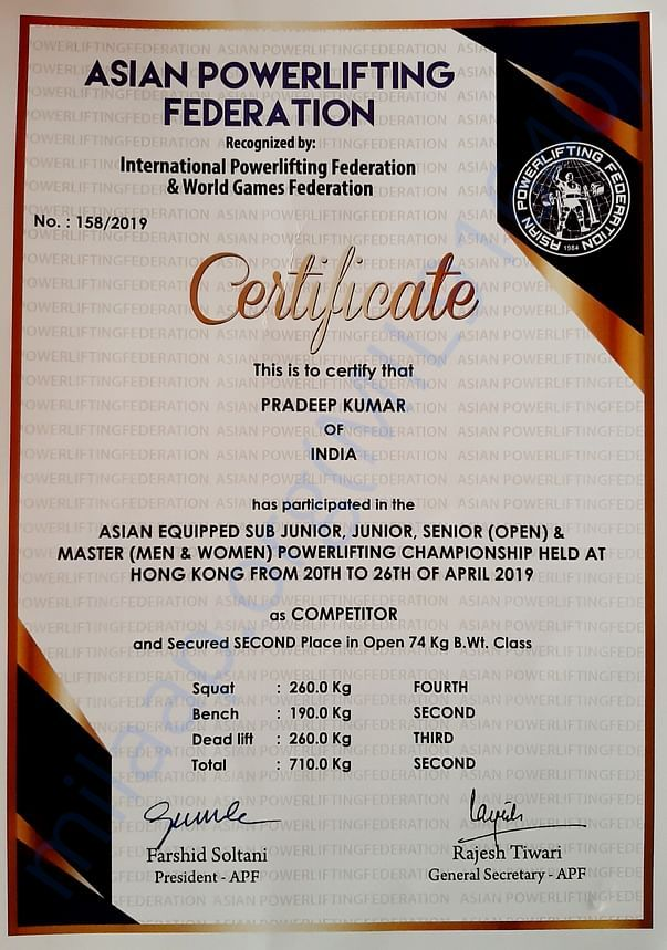 Asian Powerlifting Championships 2019 Hongkong