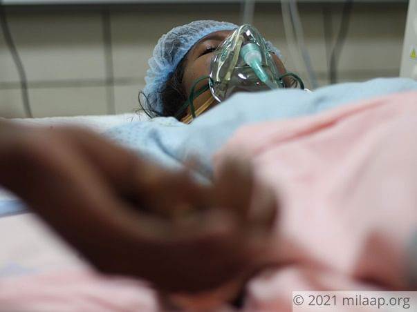 She has just 36 hrs to live if an urgent transplant is not done.