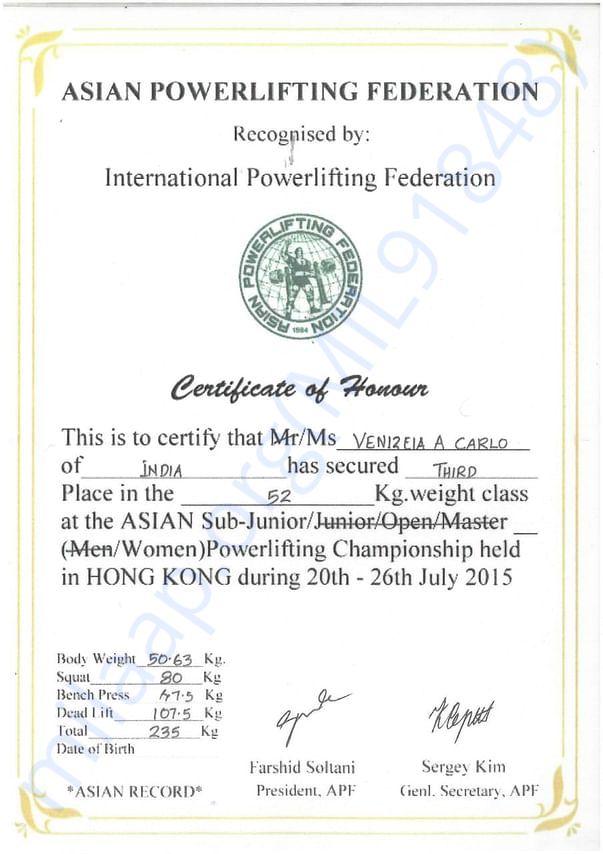 Asian powerlting championship 2015