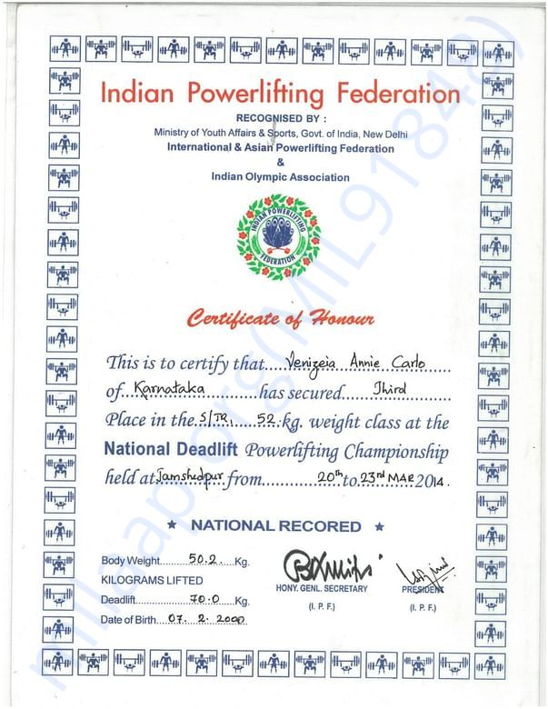 National Powerlifting championship