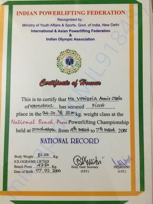 National Benchpress championship