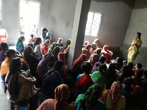 Awareness class in village
