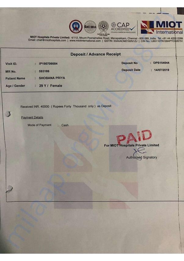 Deposit Receipts