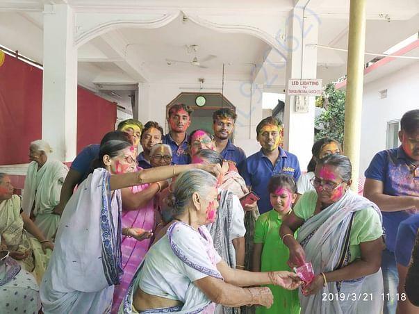 An endeavour to bring Smile on their faces, celebrating holi.