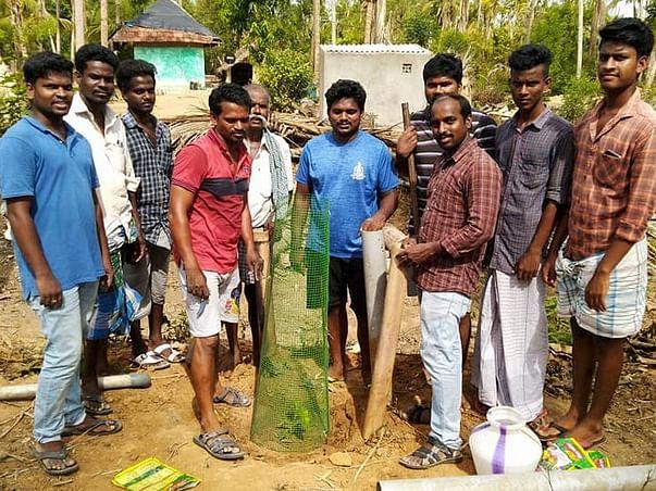 IAS Officer led Plantation Project in Gaja Cyclone Area-Mela Ottangadu