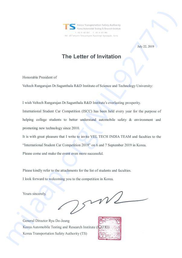 Invitation from ISCC (South Korea)