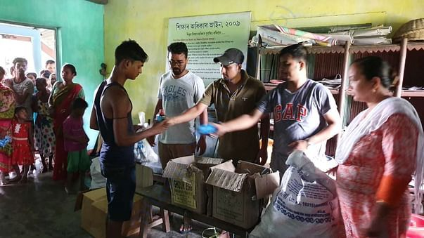 Flood Relief Distribution in Bongaigaon (23rd July 2019)