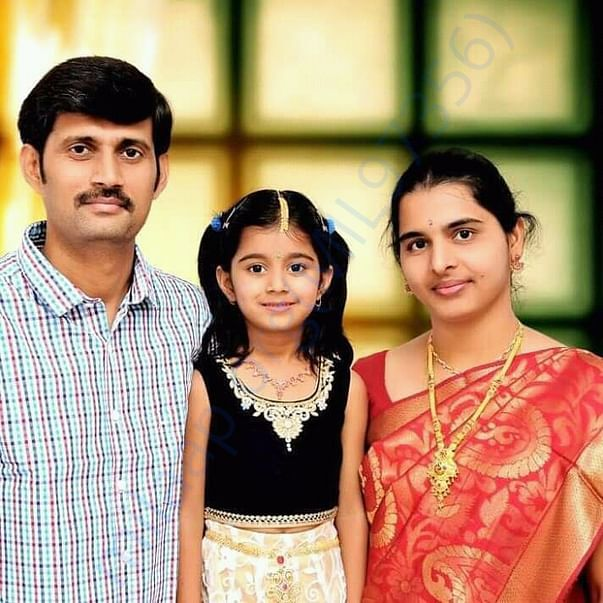 In happy times - Preethi, Sesha reddy and their daughter keerthi