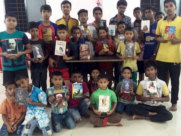 They deserve celebrations too. Durga Pujo with Ashram Kids.