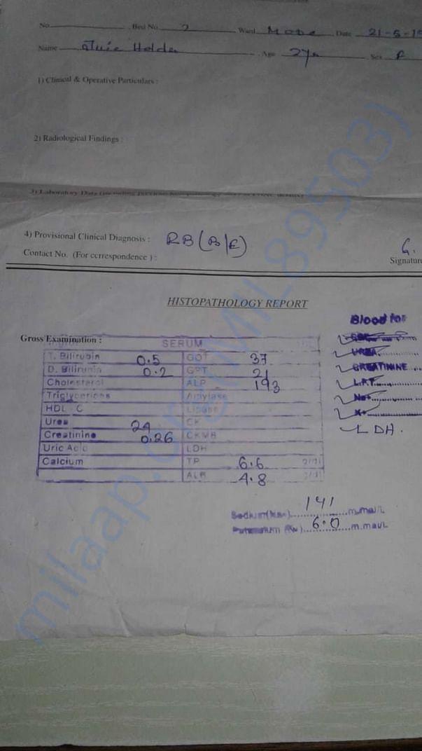 Prescription & Medical Report