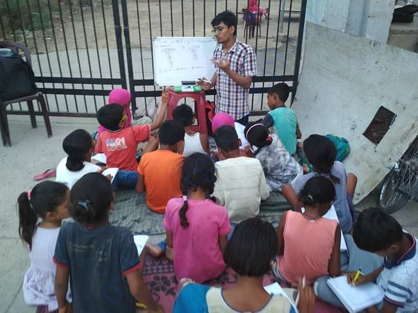Giving education to underprivileged kids