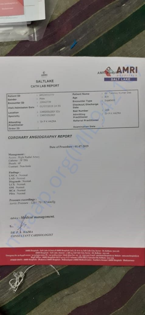 Angiography Report