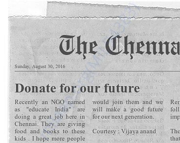 Donate for our future world