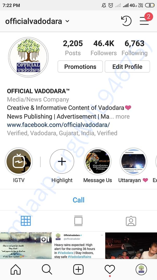 This is our Instagram page @officialvadodara