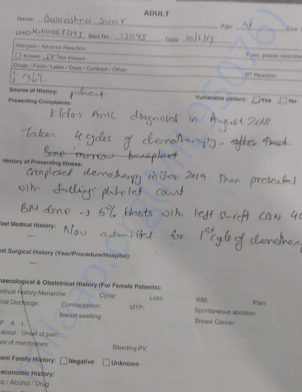 Document for 5th High Chemo