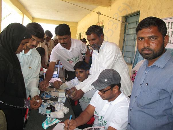 Blood test in the camp