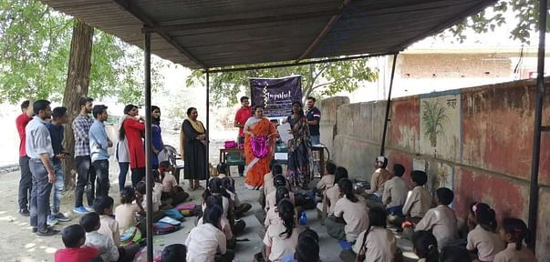 Education and stationary distribution drive at a unprivileged school.