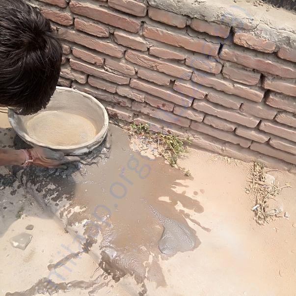 Placing water  pots