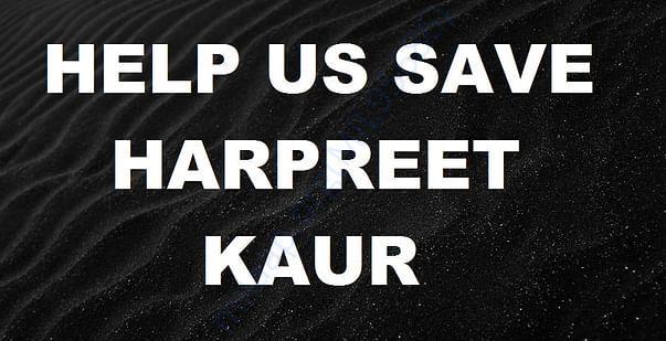 Help us save Harpreet