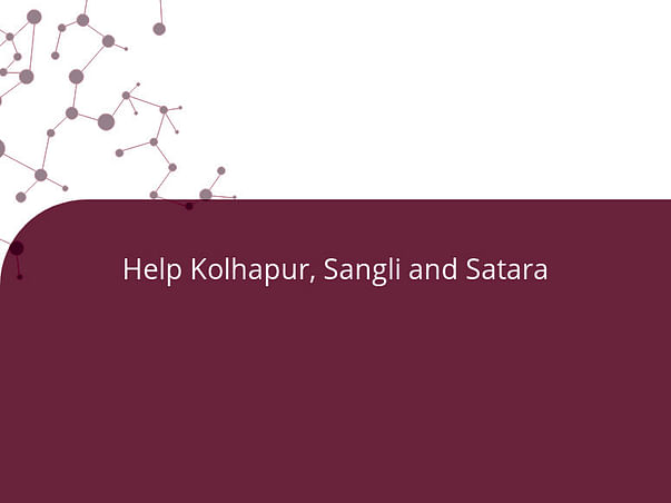 Help Kolhapur, Sangli and Satara