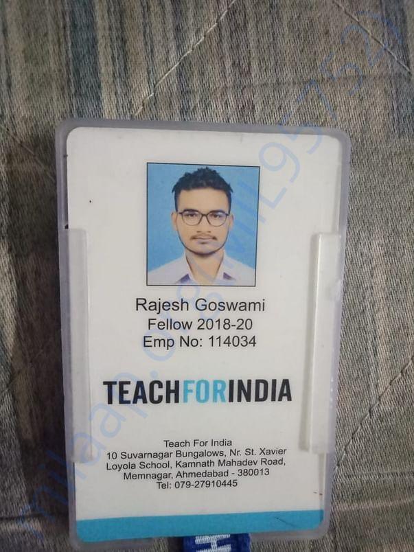 Teach For India ID card