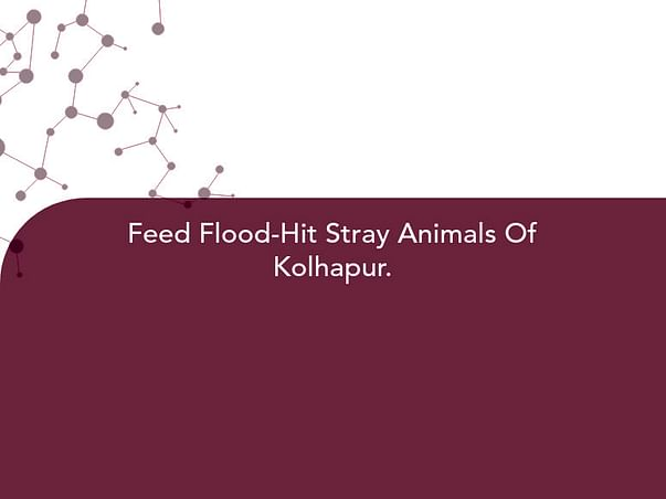 Feed Flood-Hit Stray Animals Of Kolhapur.