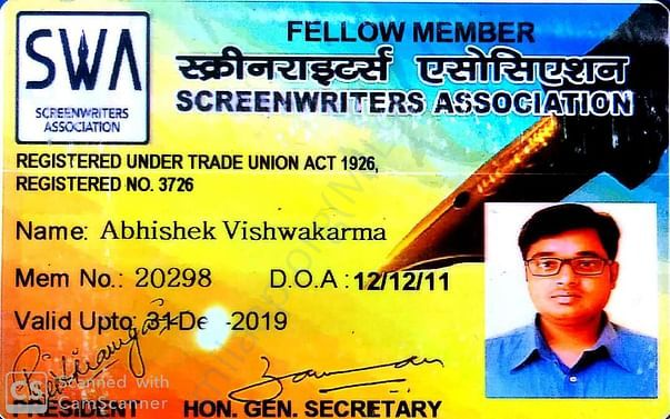 WRITER'S CARD (SCREENWRITERS ASSOCIATION)
