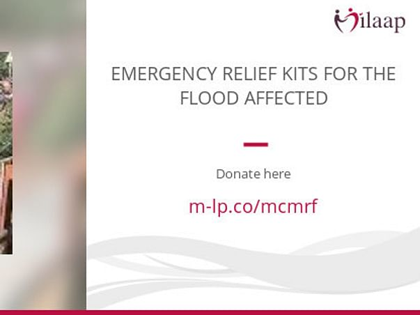 EMERGENCY RELIEF KITS FOR THE FLOOD AFFECTED