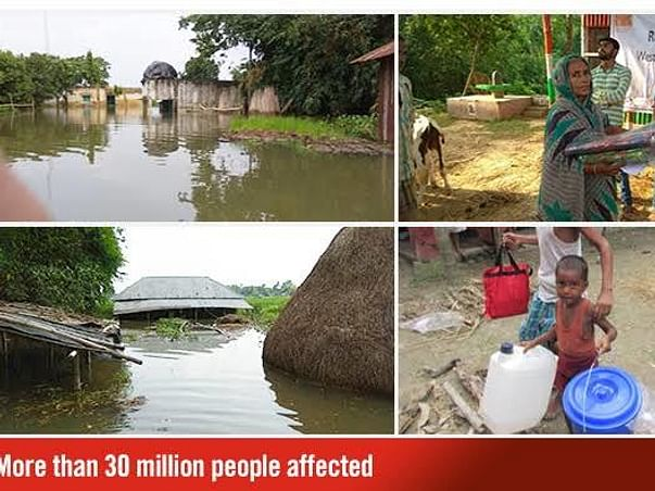 Support for 1 kalam center / flood affected people