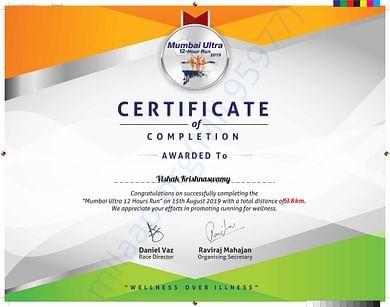 Certificates Of Marathon